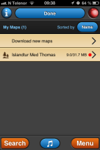 Map collections MotionX GPS