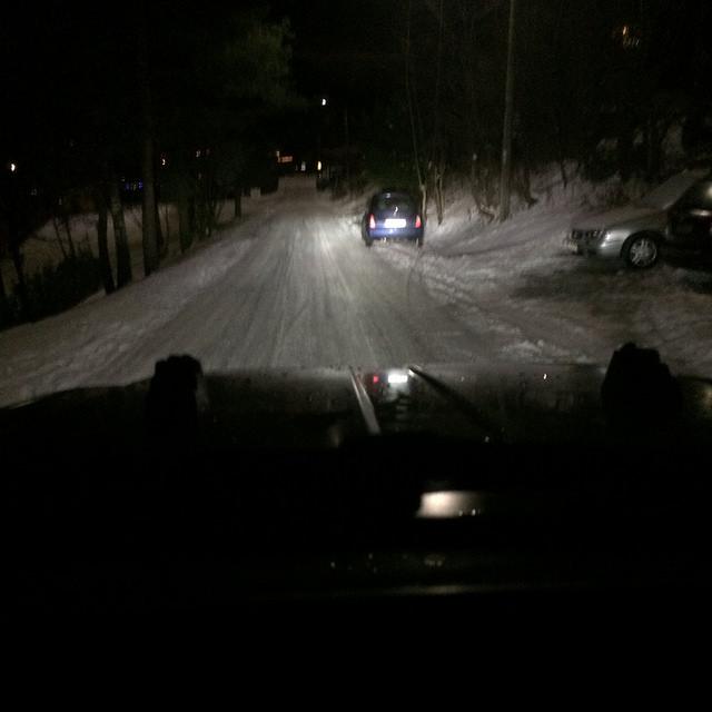 Fjernlys med Xenon (med snø som hjelper litt)